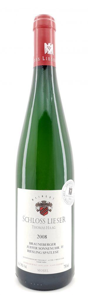 Brauneberger Juffer Sonnenuhr Riesling Spätlese Versteigerungswein 2008