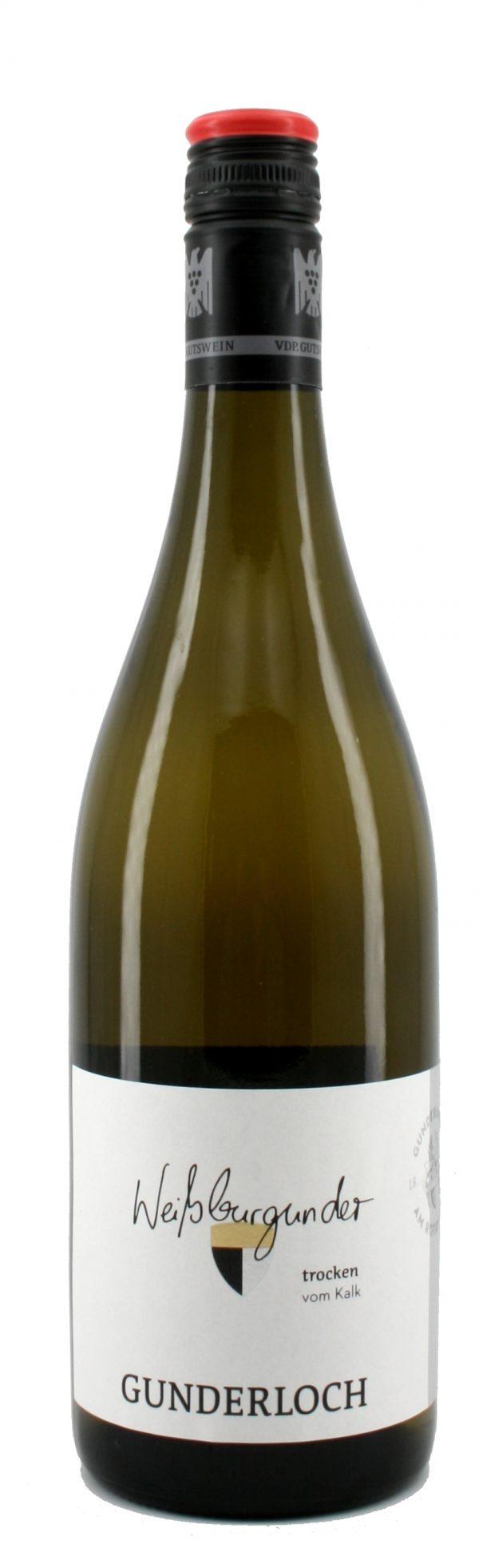 6 Flaschen 2018 vom Kalk Weißburgunder