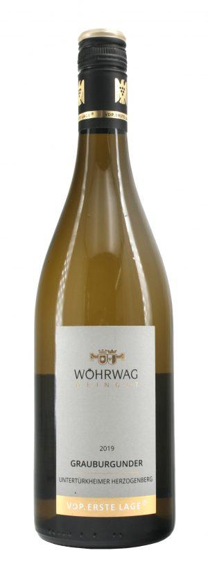 6 Flaschen 2019 Untertürkheimer Herzogenberg Grauburgunder Qualitätswein trocken