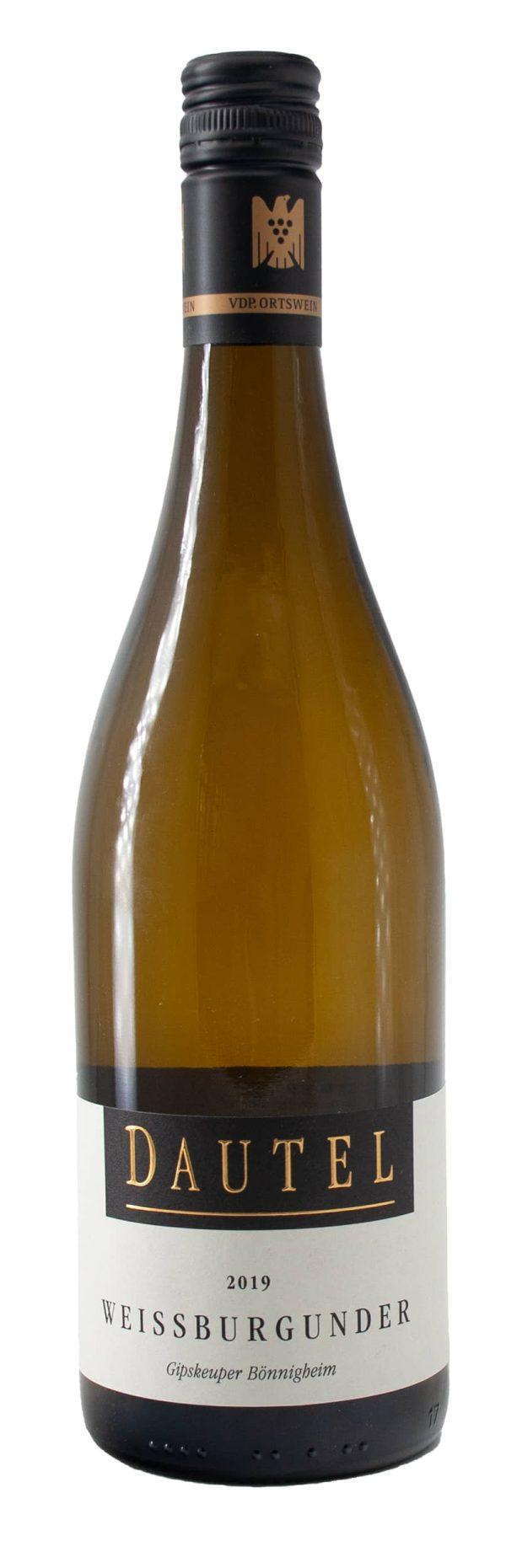 6 Flaschen 2019 Bönnigheimer Gipskeuper Weißburgunder Qualitätswein trocken